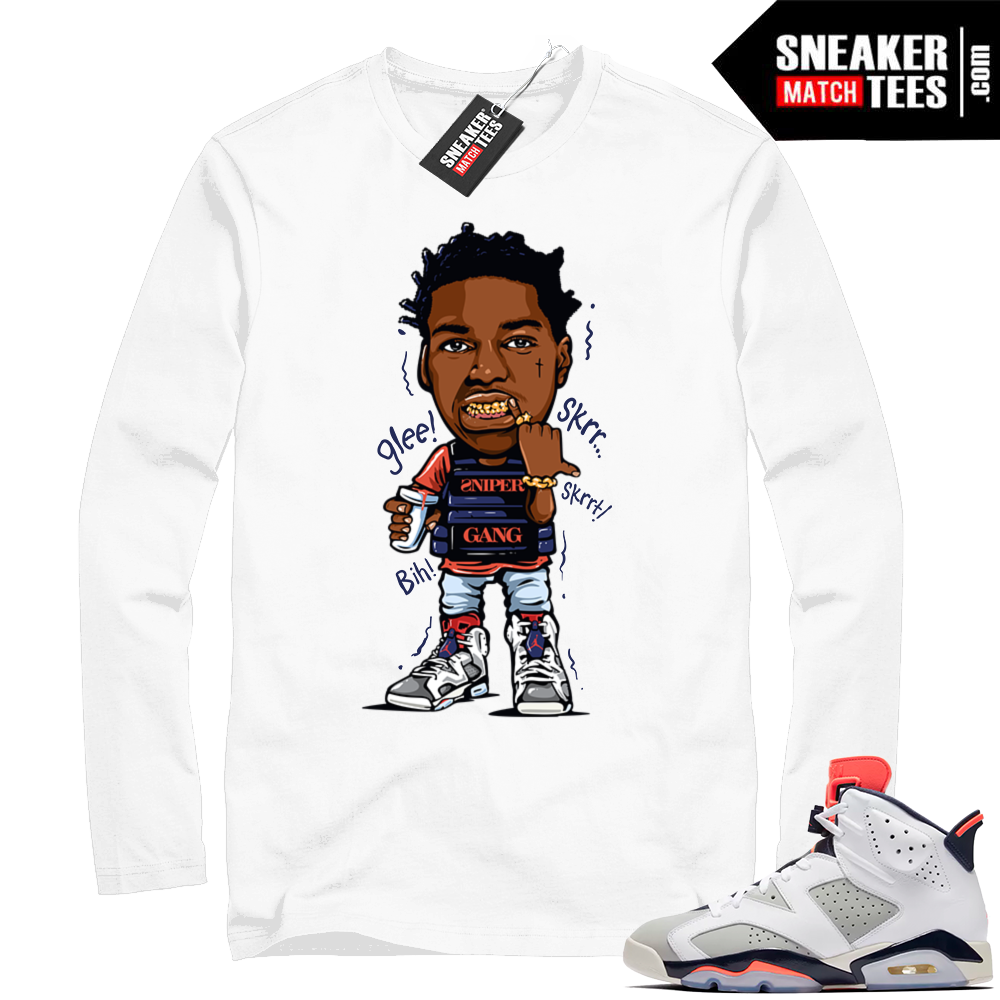 Kodak Black shirt sneaker match tees