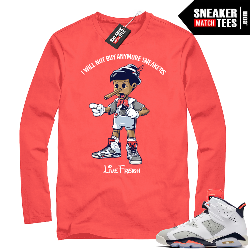 Match Air Jordan 6 Long Sleeve Tinker Shirt