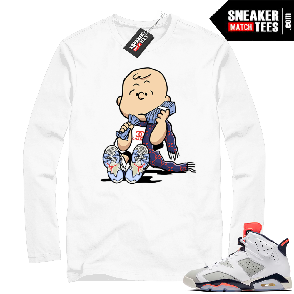 Match Air Jordan 6 tee shirt