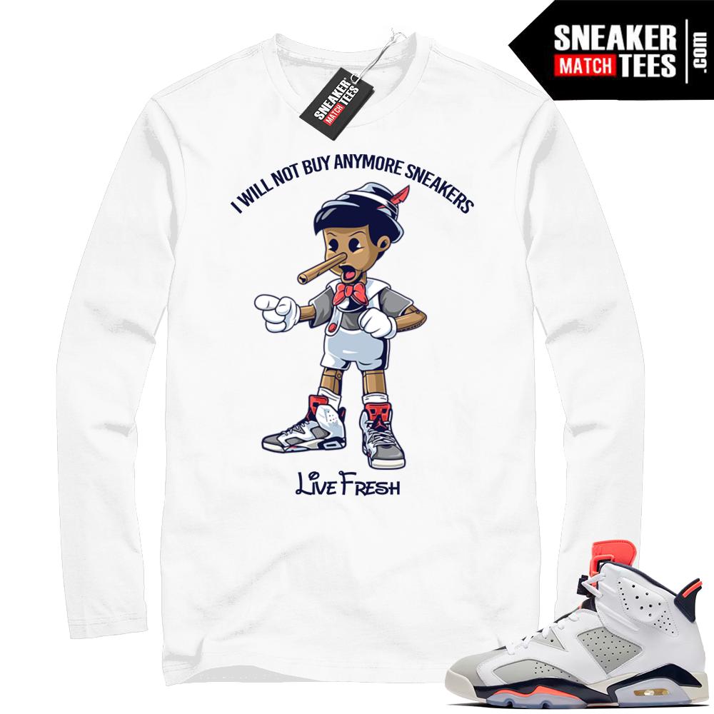 Match Jordan 6 Tinker Long Sleeve shirt