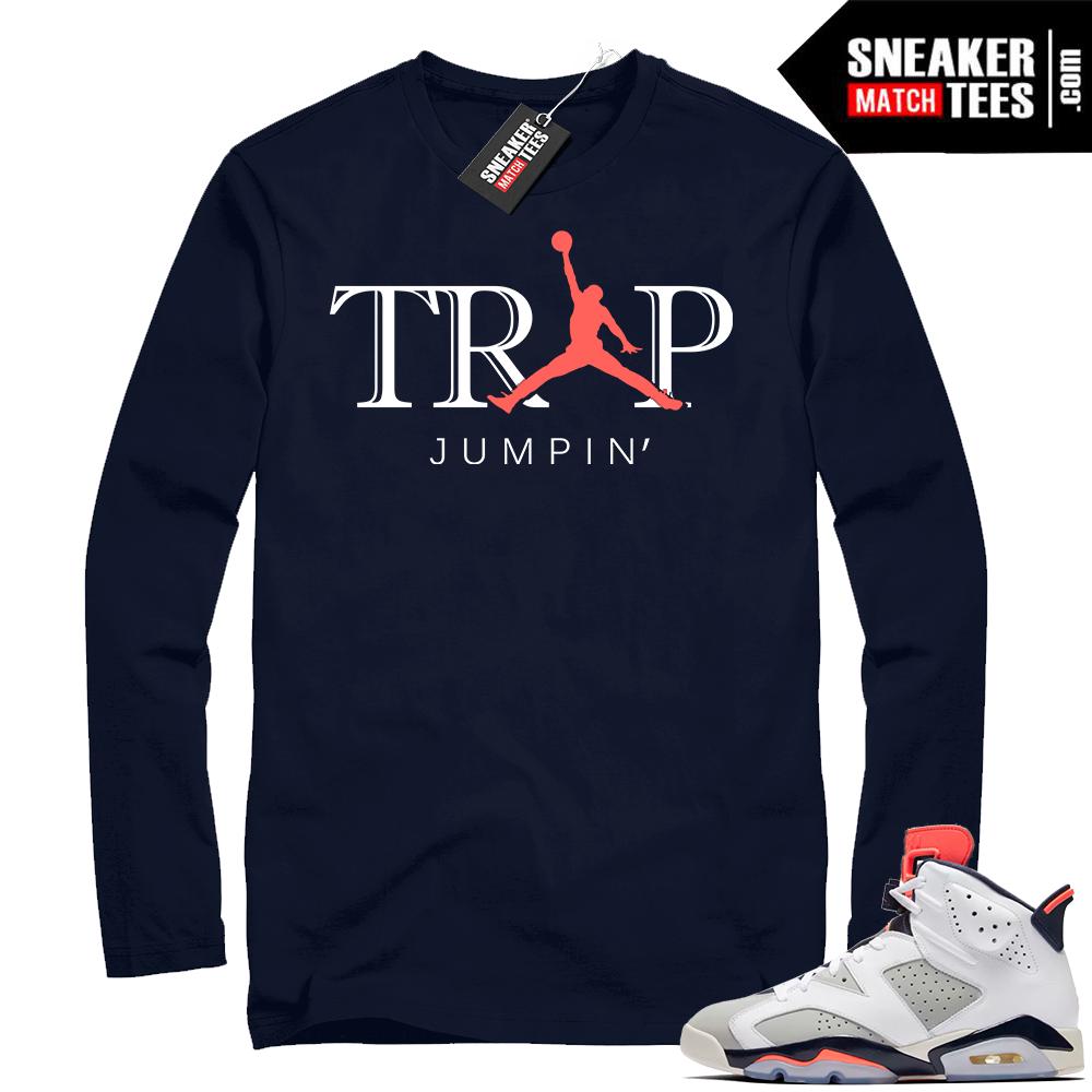 Match Navy Tinker 6s shirt