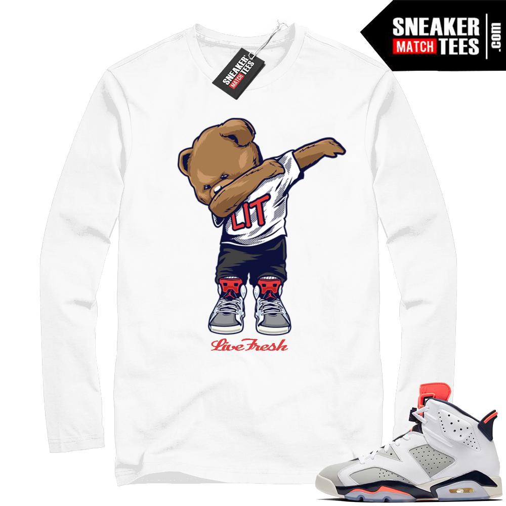 Match White Jordan 6 Tinker shirt