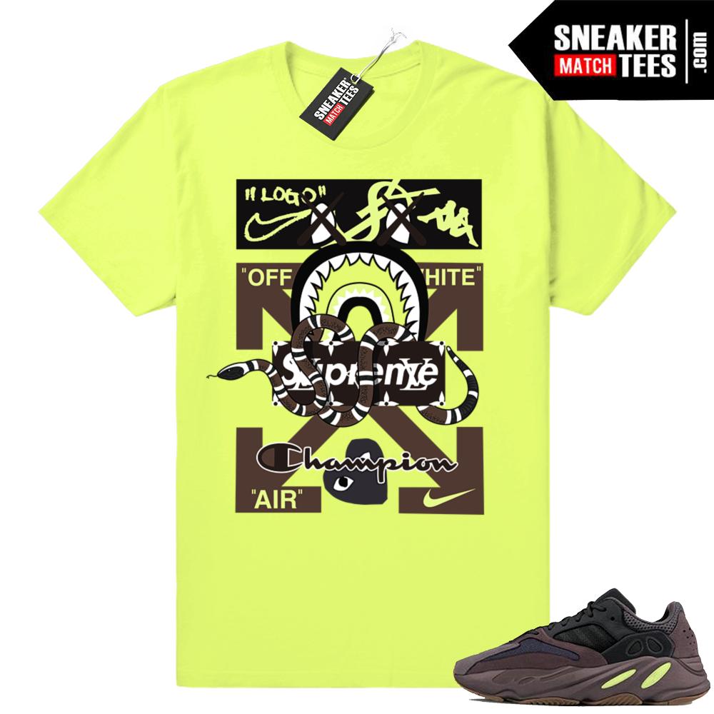 Mauve Yeezy 700 t-shirt