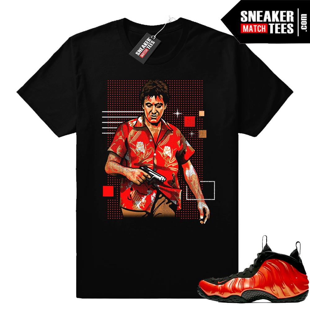 Nike Foamposites Habanero sneaker tee