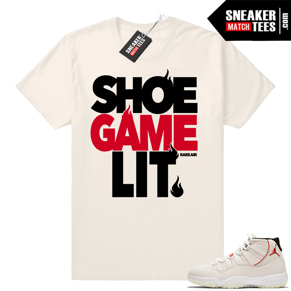 Shoe Game Lit Jordan 11 T-shirt