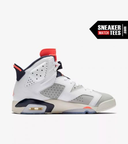 Shop Jordan Retro 6 Tinker shirts match sneakers (4)