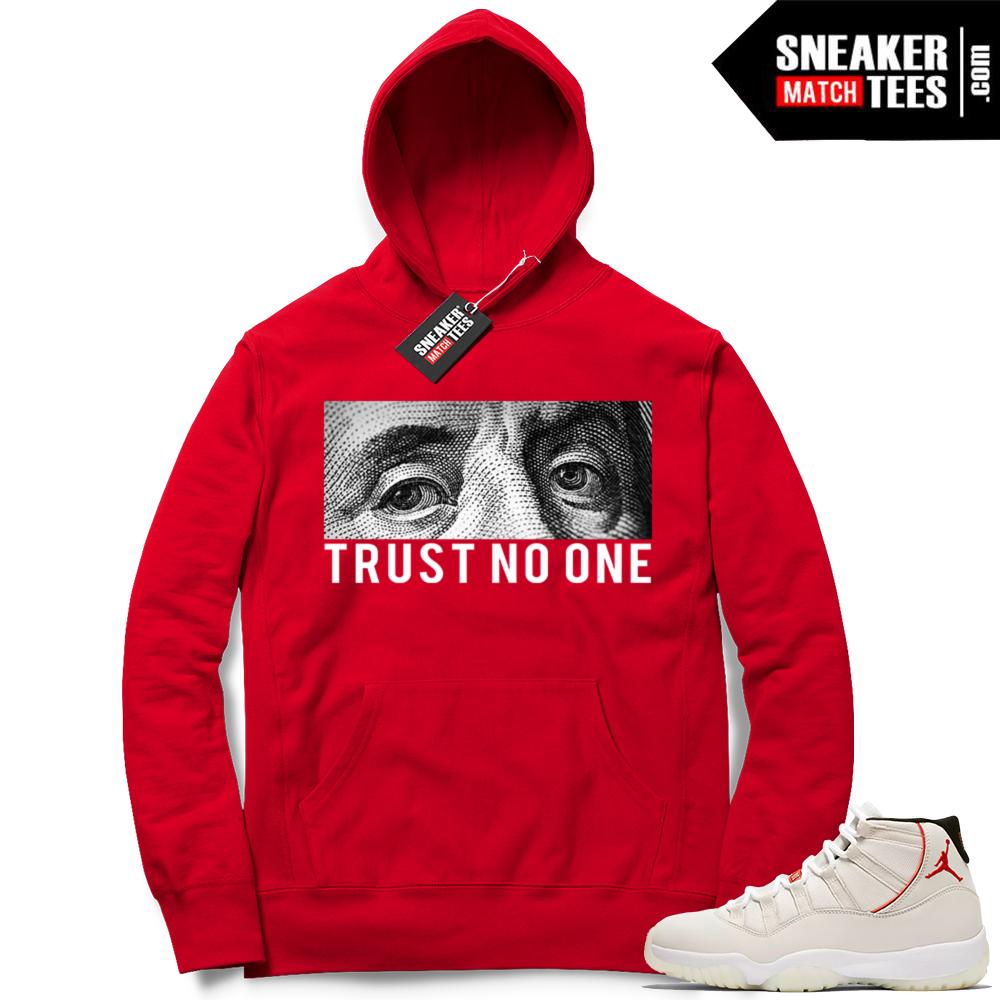 White Jordan 11 matching Hoodie
