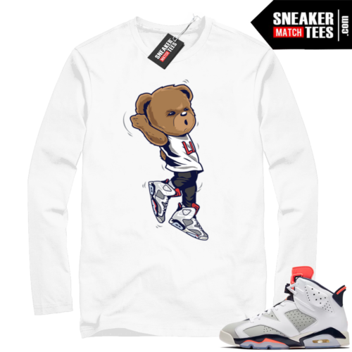 White Jordan 6 Tinker shirt
