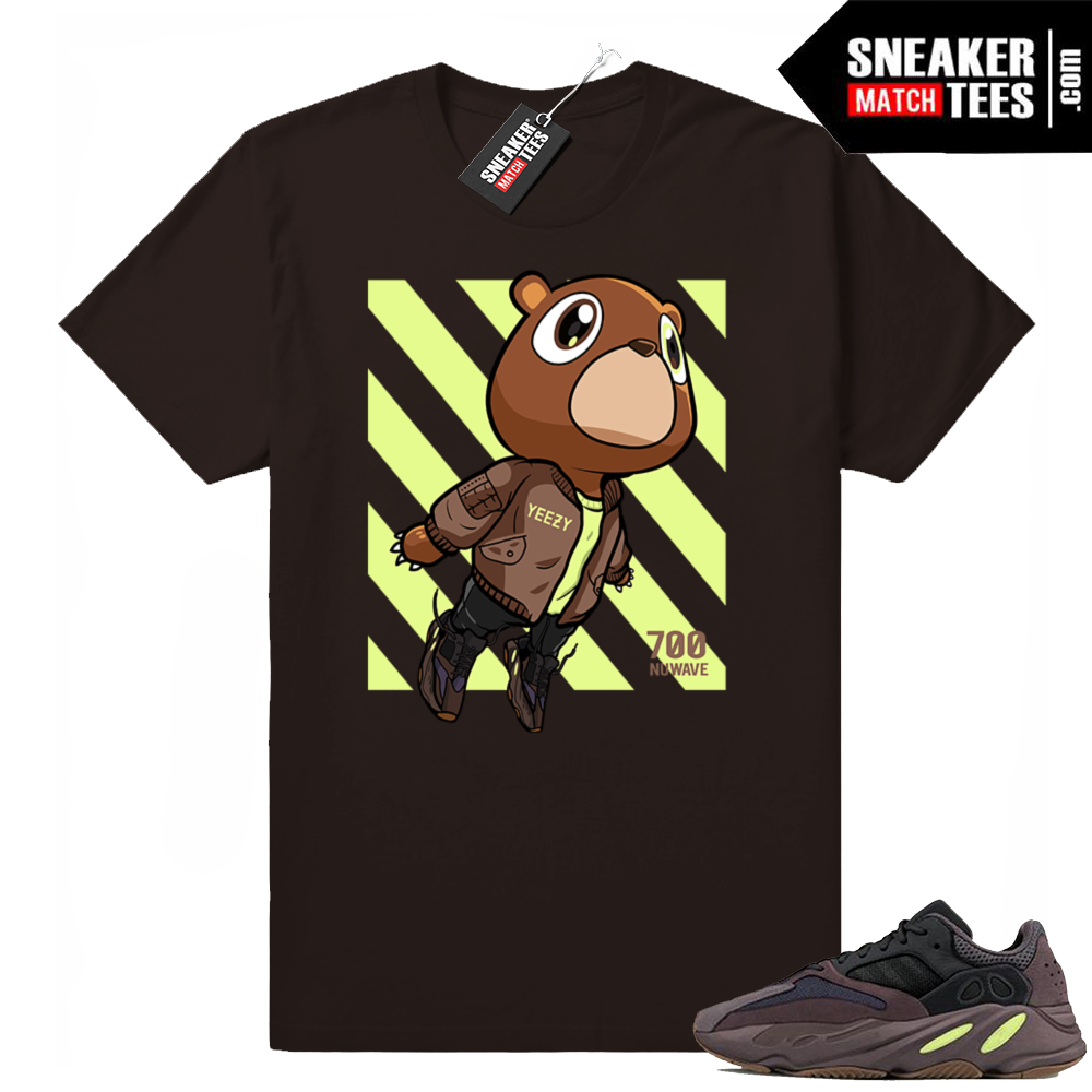 Yeezy 700 Mauve Chocolate shirt