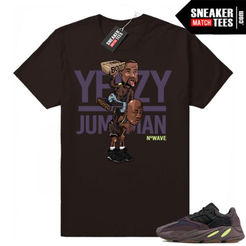 Yeezy Over Jumpman Mauve 700 t-shirt