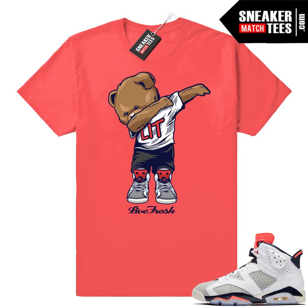 infrared Jordan shirt match