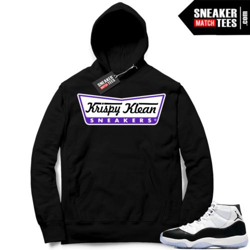 Air Jordan 11 Concord Black Hoodie Sweater