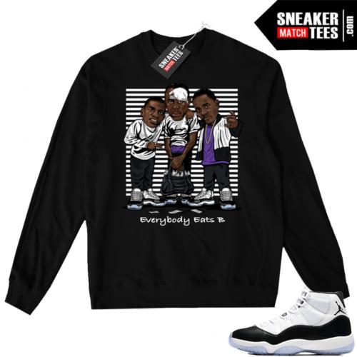 Air Jordan 11 Concord Black Sweater