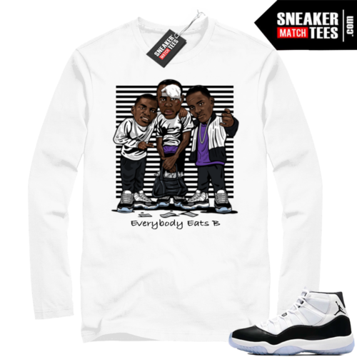 Air Jordan 11 Concord Long Sleeve White tee