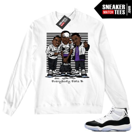 Air Jordan 11 Concord White Sweater