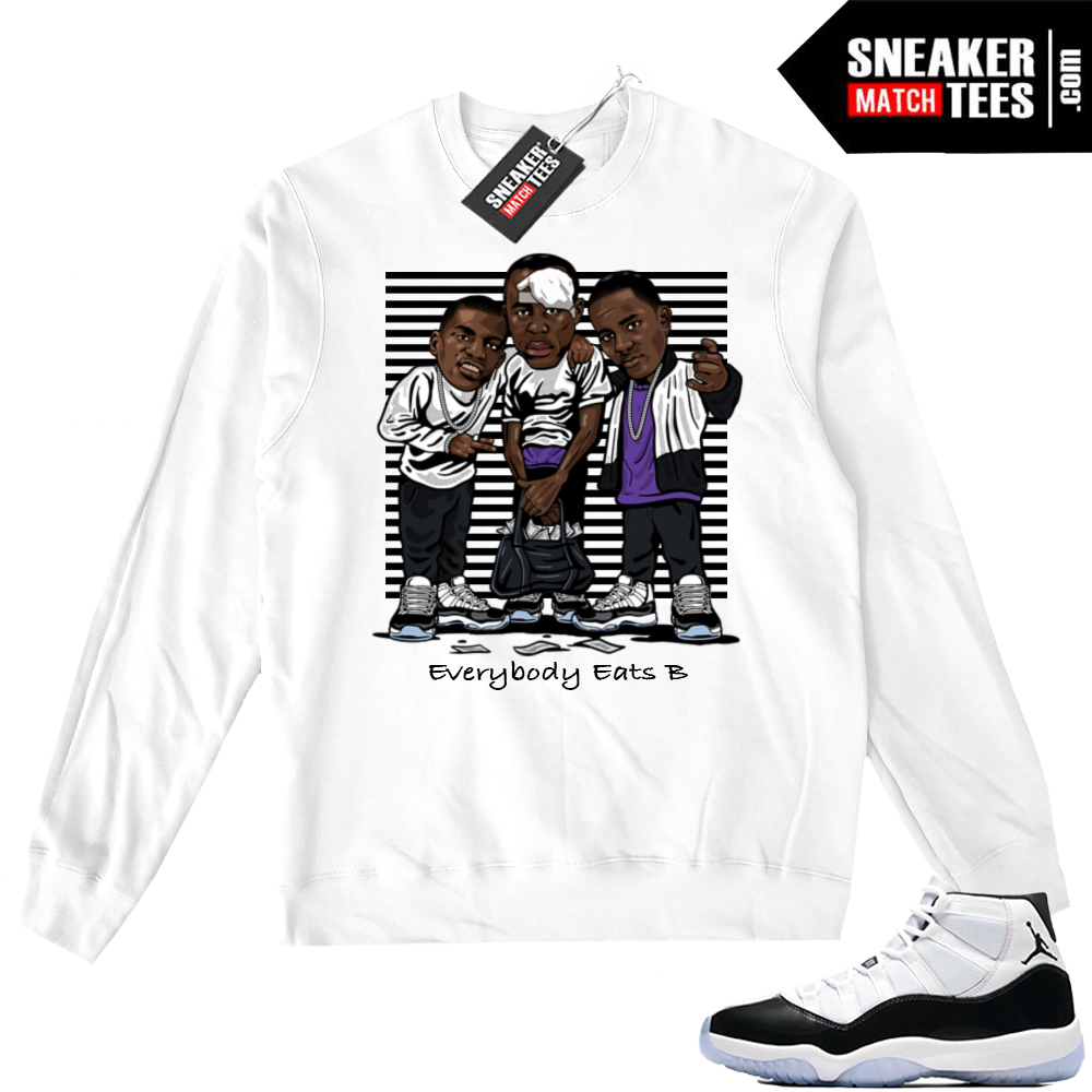 Air Jordan 11 Concord White Sweater