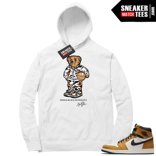 Jordan 1 Rookie of the Year White Hoodie match