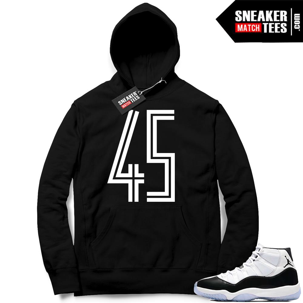 Jordan 11 Concord 45 Black Hoodie