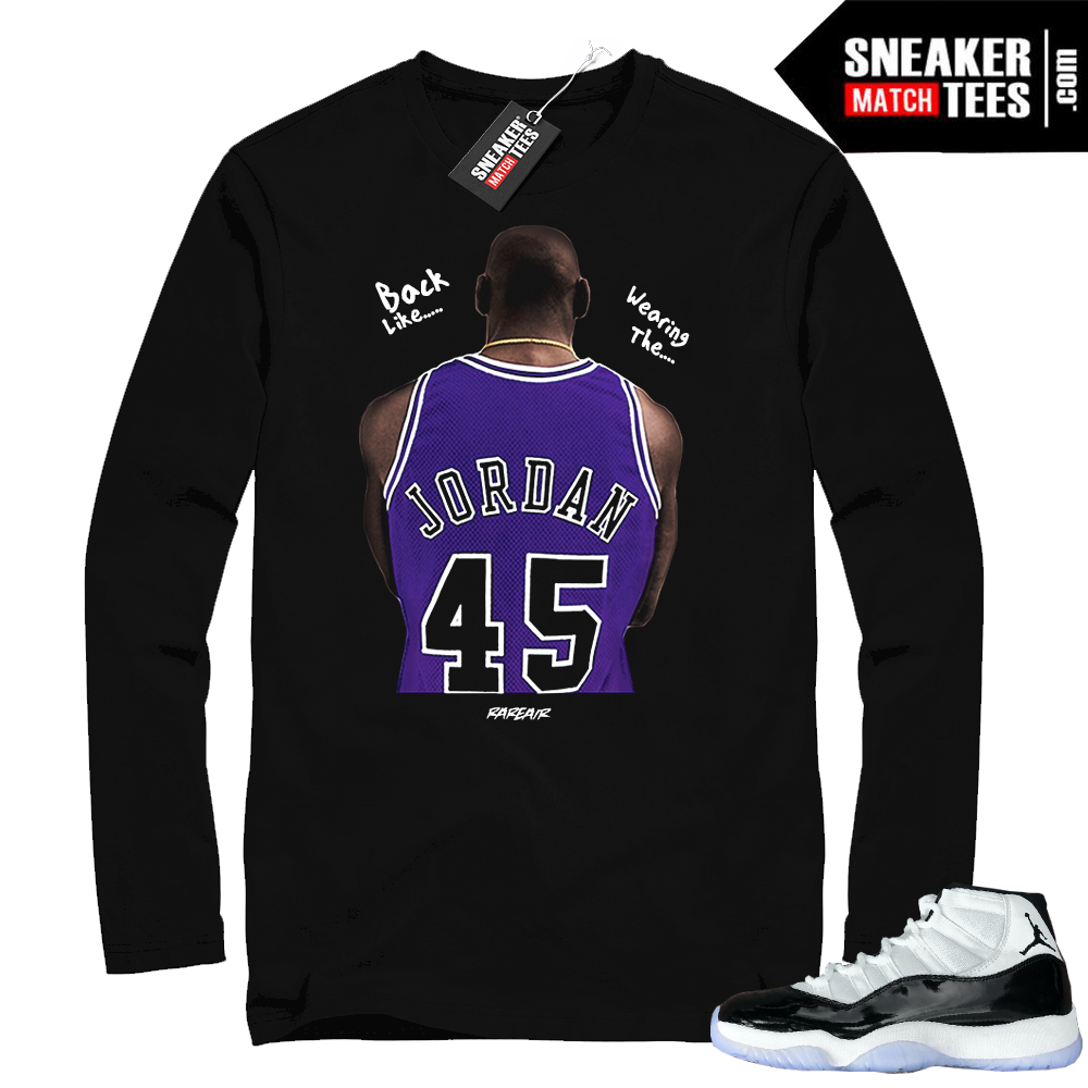 Jordan 11 Concord Back Like Jordan t-shirt