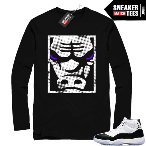 Jordan 11 Concord Black Long Sleeve Bull Face