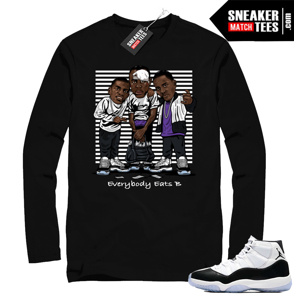 Jordan 11 Concord Black Long sleeve tee