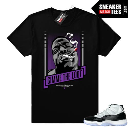 Jordan 11 Concord Gimme the Loot t-shirt