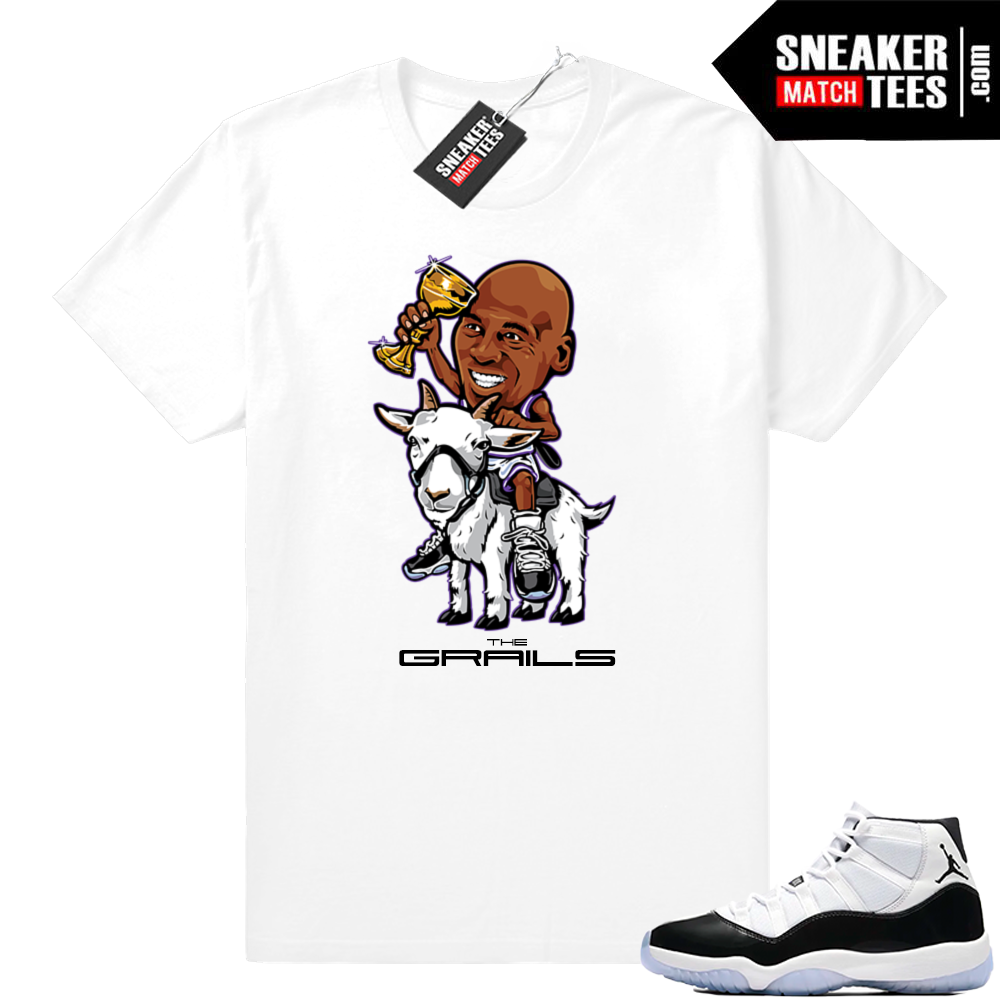 Jordan 11 Concord Grails White t-shirt