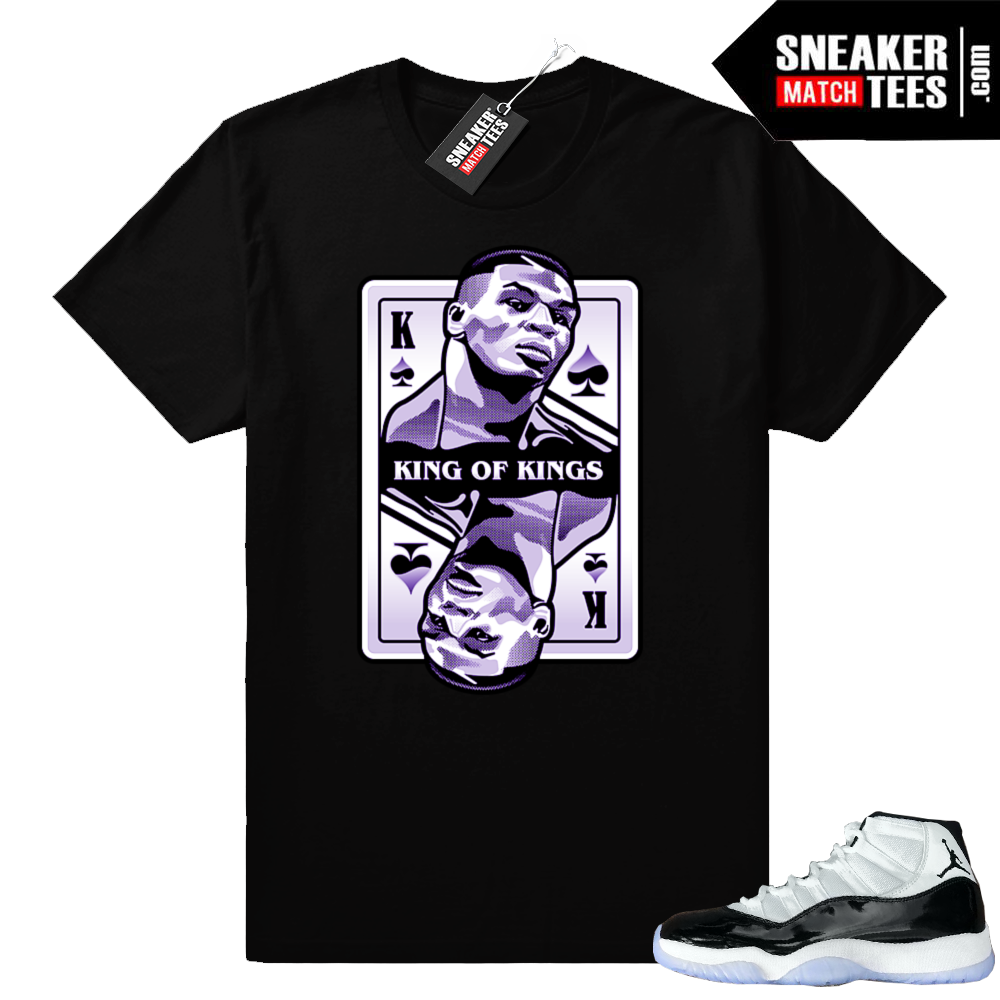 Jordan 11 Concord King Mike Tyson shirt