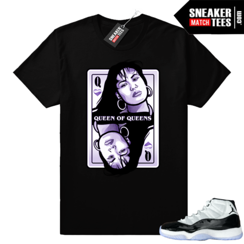 Jordan 11 Concord Queen Selena shirt
