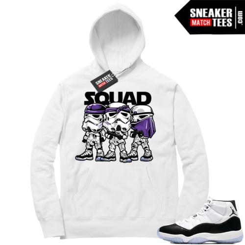Jordan 11 Concord Squad White Hoodie