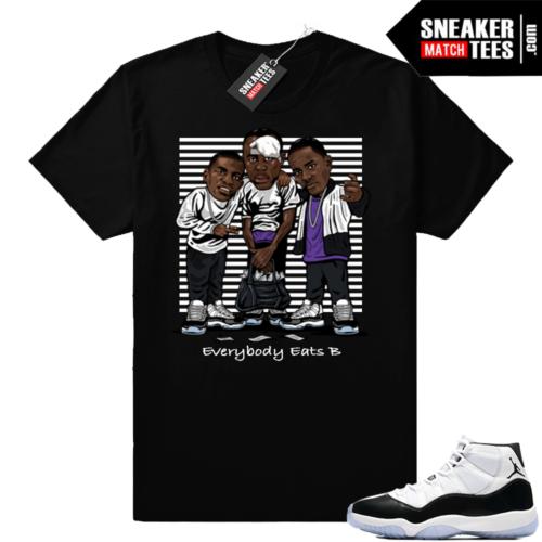 Jordan 11 Concord T-shirt Paid In Full