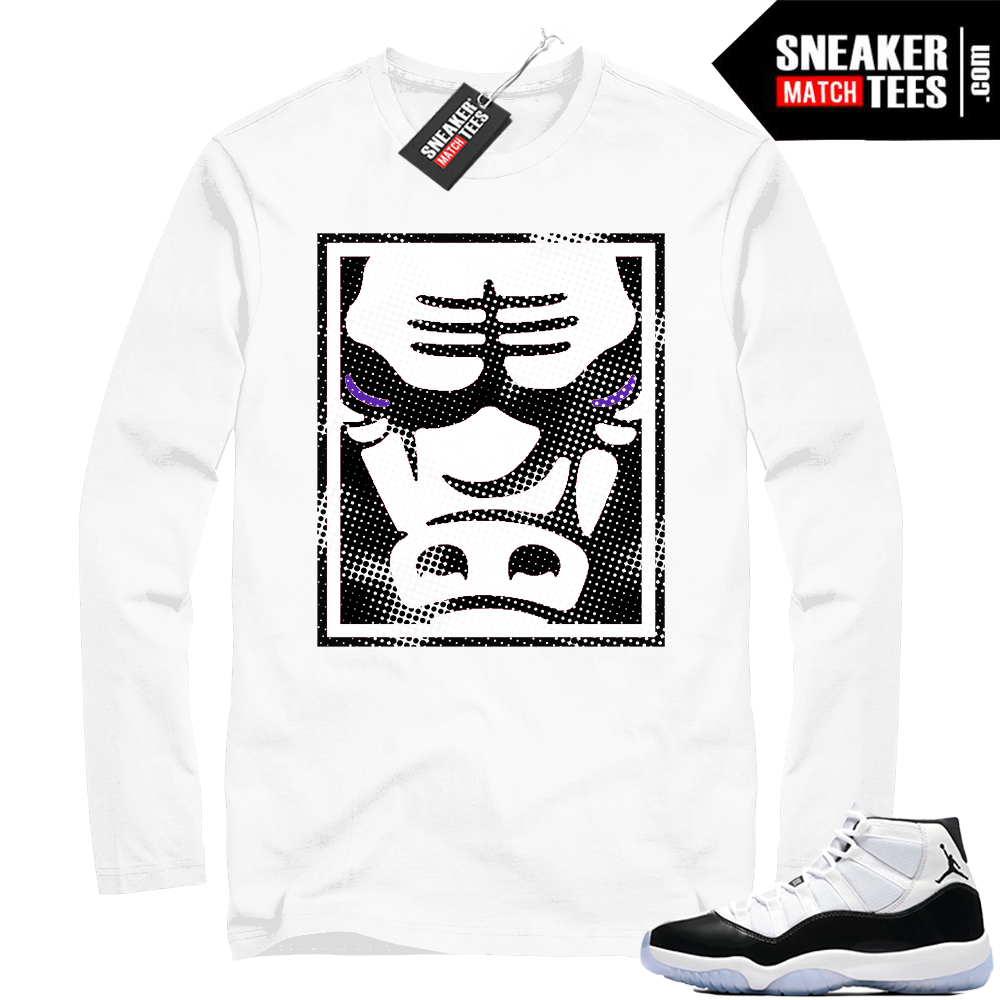 Jordan 11 Concord White Long Sleeve Bull Face