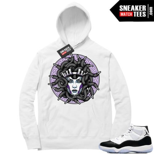 Jordan 11 Concord White hoodie match