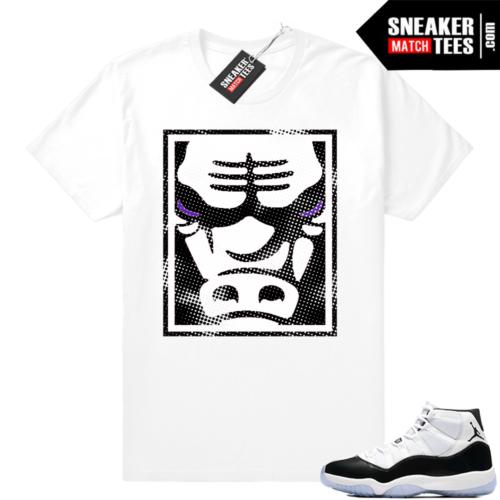 Jordan 11 Concord White t-shirt Bull Face