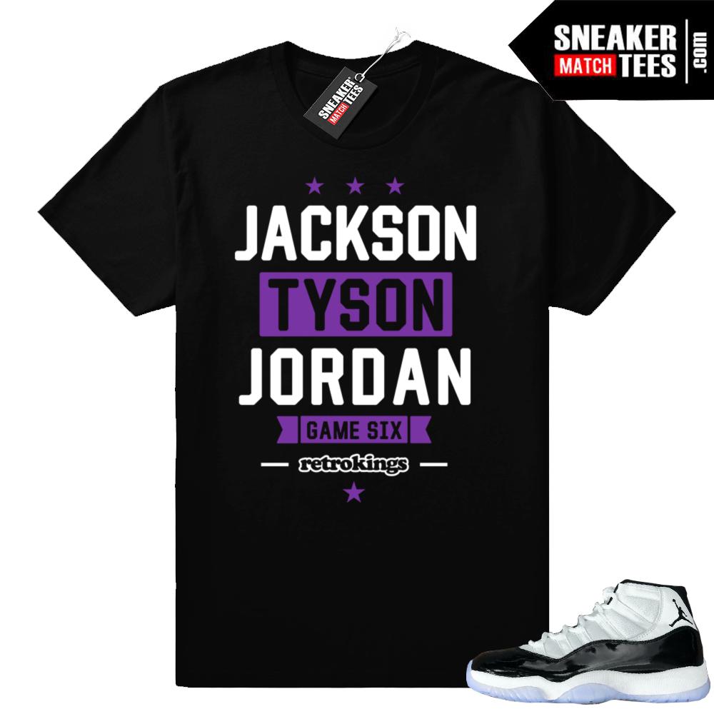 Jordan 11 Concord sneaker shirt