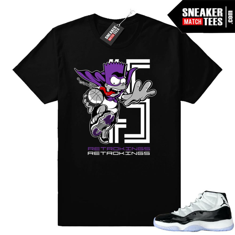 Jordan 11 Concord sneaker tees shirt