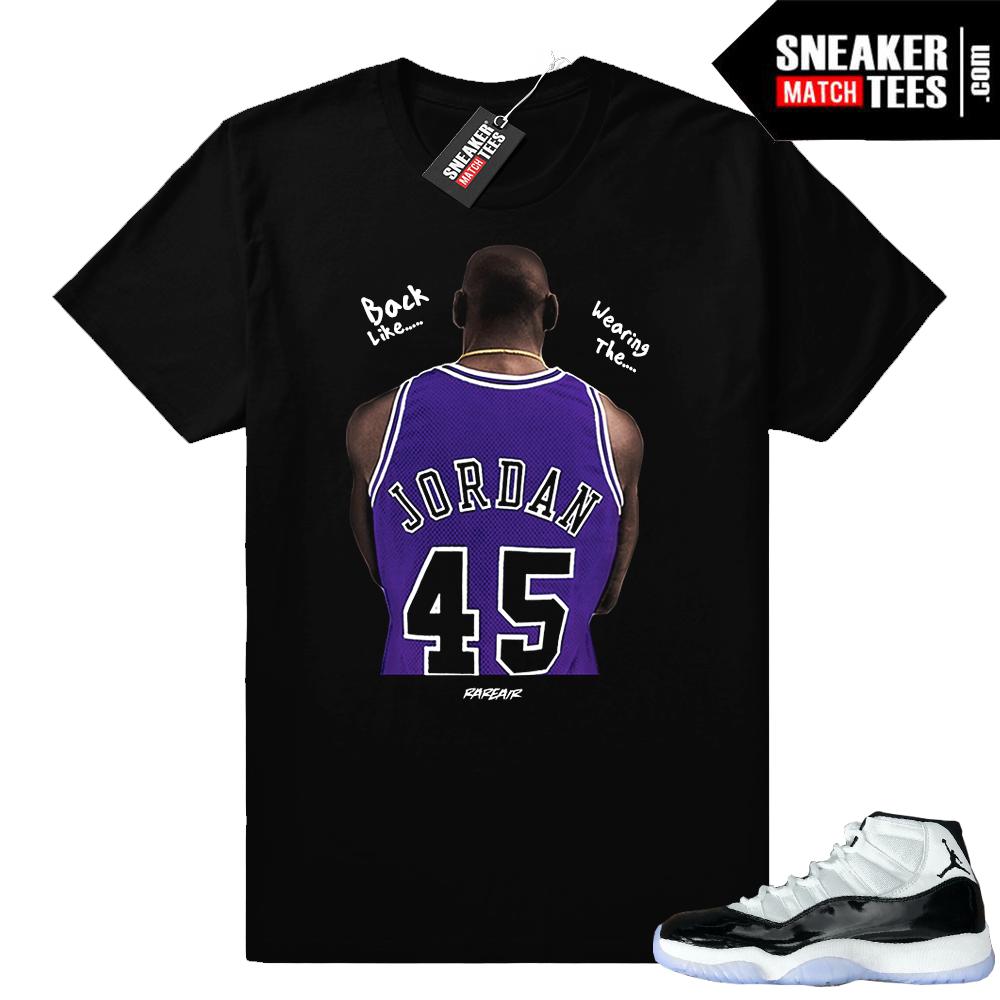 Jordan 11 Concord t-shirt Jordan 45