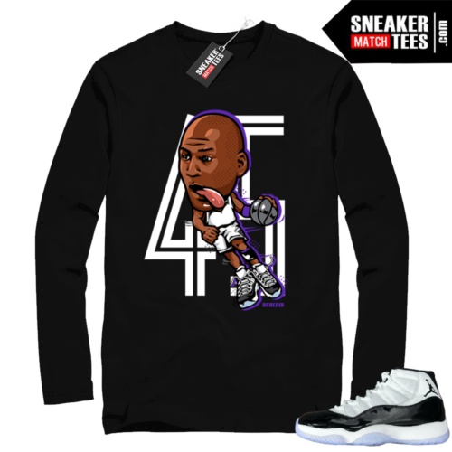 Jordan 11 Concord Long Sleeve t-shirts
