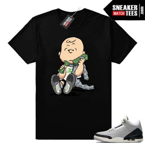 Jordan 3 Charlie Brown shirt