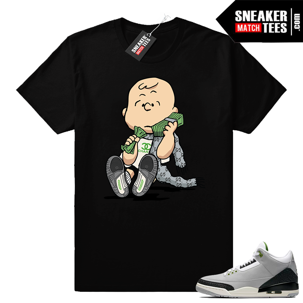 Jordan 3 Charlie Brown shirt