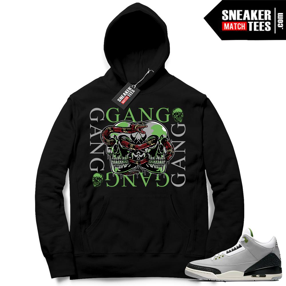 Jordan 3 Chlorophyll hoodies