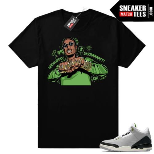 Jordan 3 Chlorophyll matching shirt