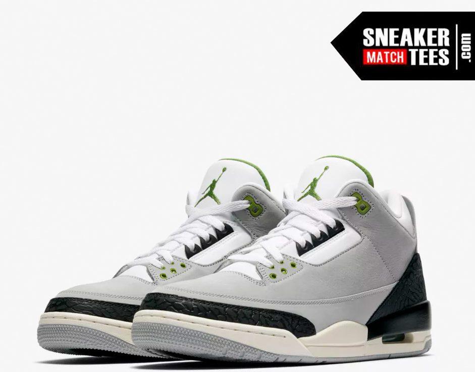 Jordan 3 Chlorophyll shirts match sneakers (1)