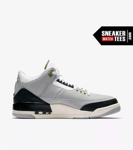Jordan 3 Chlorophyll shirts match sneakers (2)