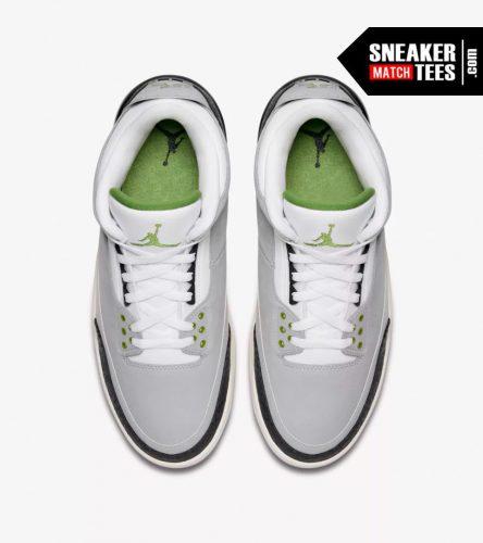 Jordan 3 Chlorophyll shirts match sneakers (4)