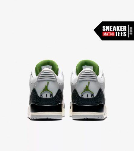 Jordan 3 Chlorophyll shirts match sneakers (5)