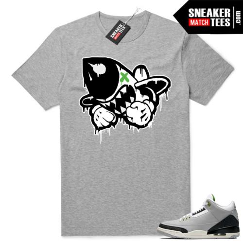 Jordan 3 Chlorophyll sneaker match tees