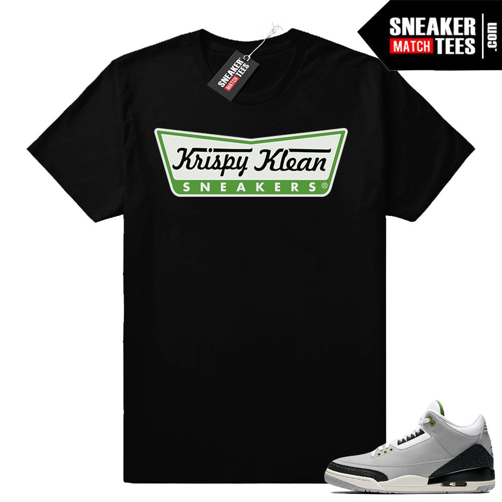 Jordan 3 Chlorophyll sneaker tees shirt