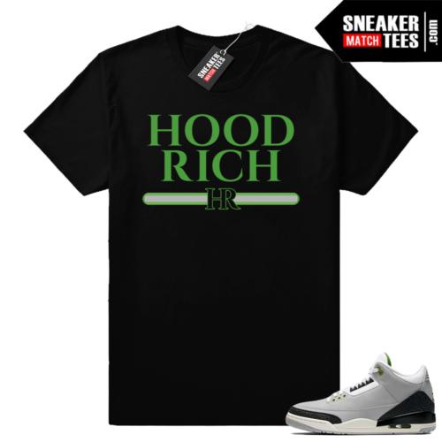 Jordan 3 Chlorophyll t shirt match