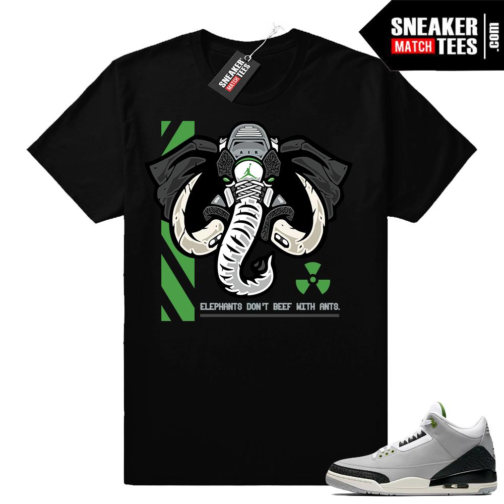 Sneaker tees Jordan 3 Chlorophyll